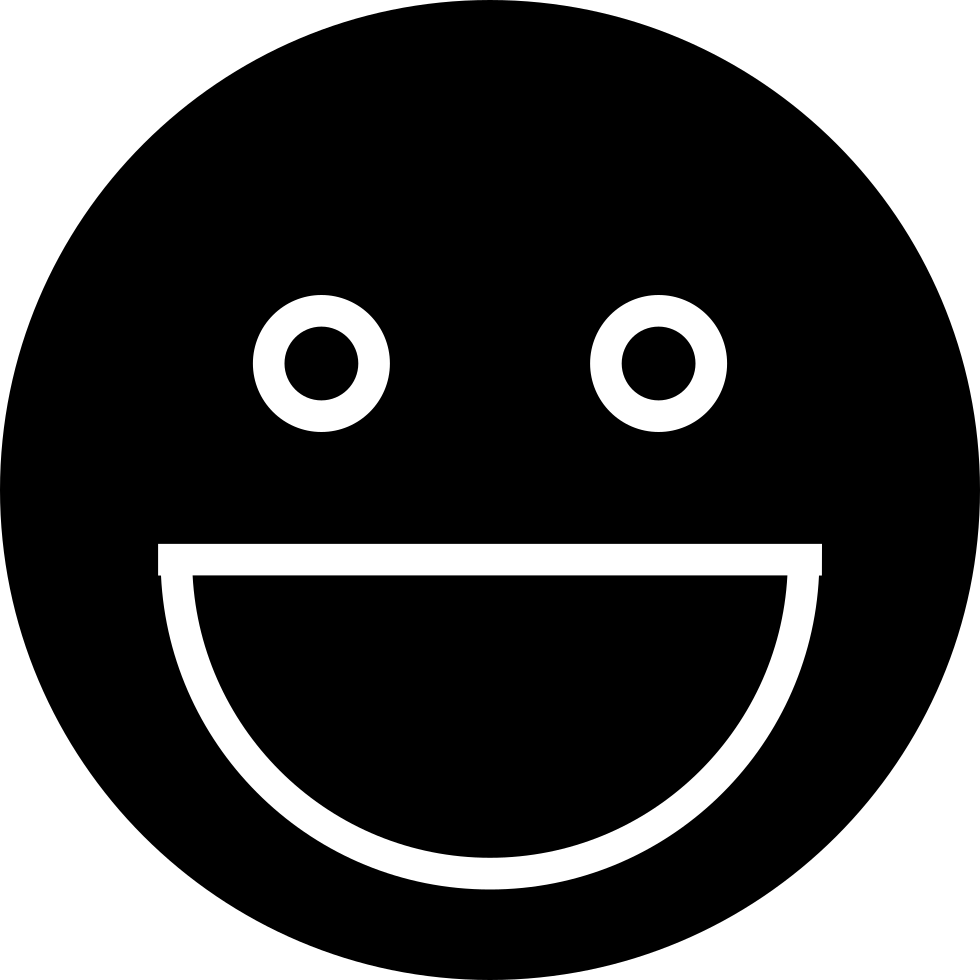 Smiley face white png. Svg icon free download