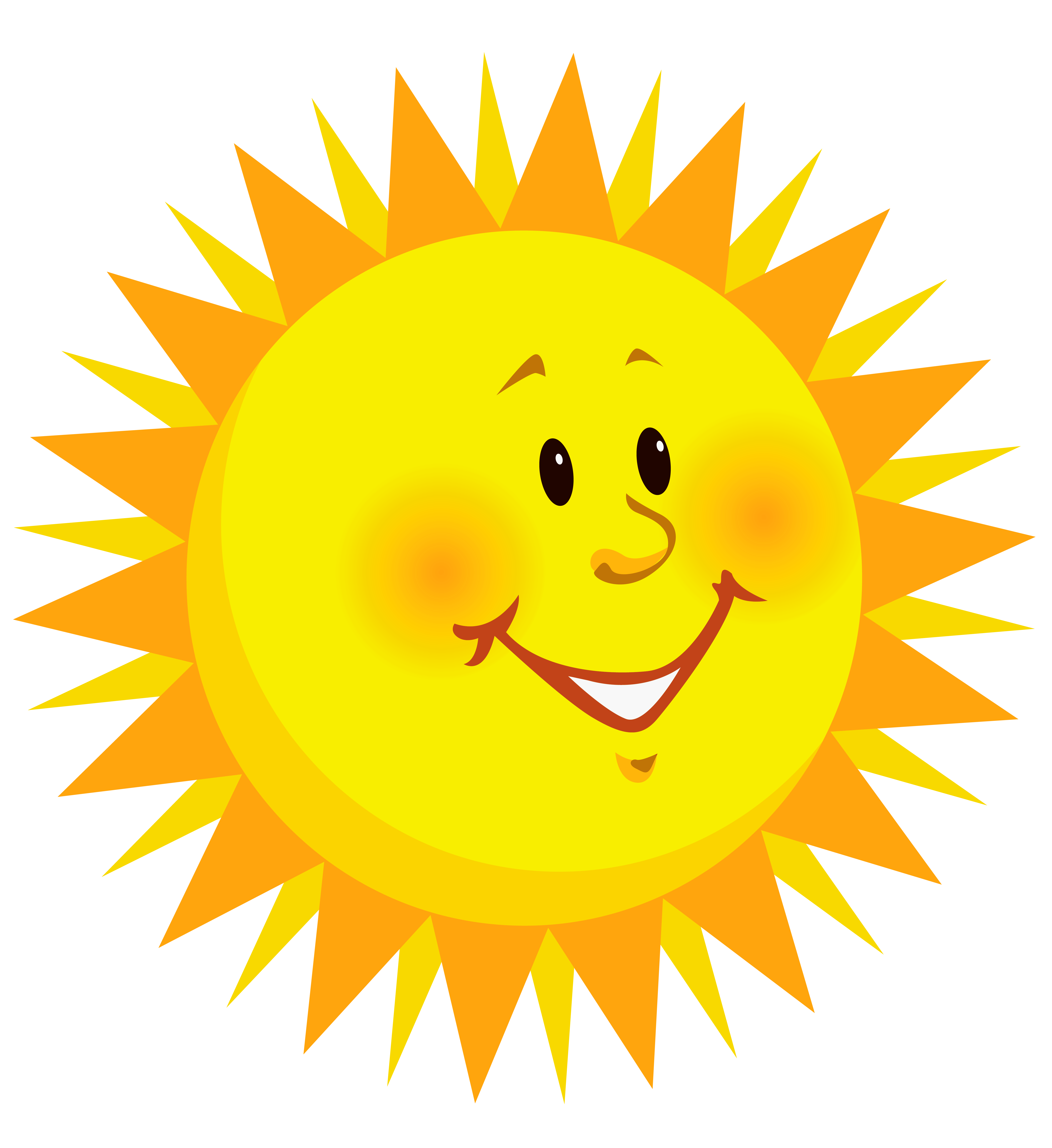 Smiley sun png. Transparent smiling clipart picture