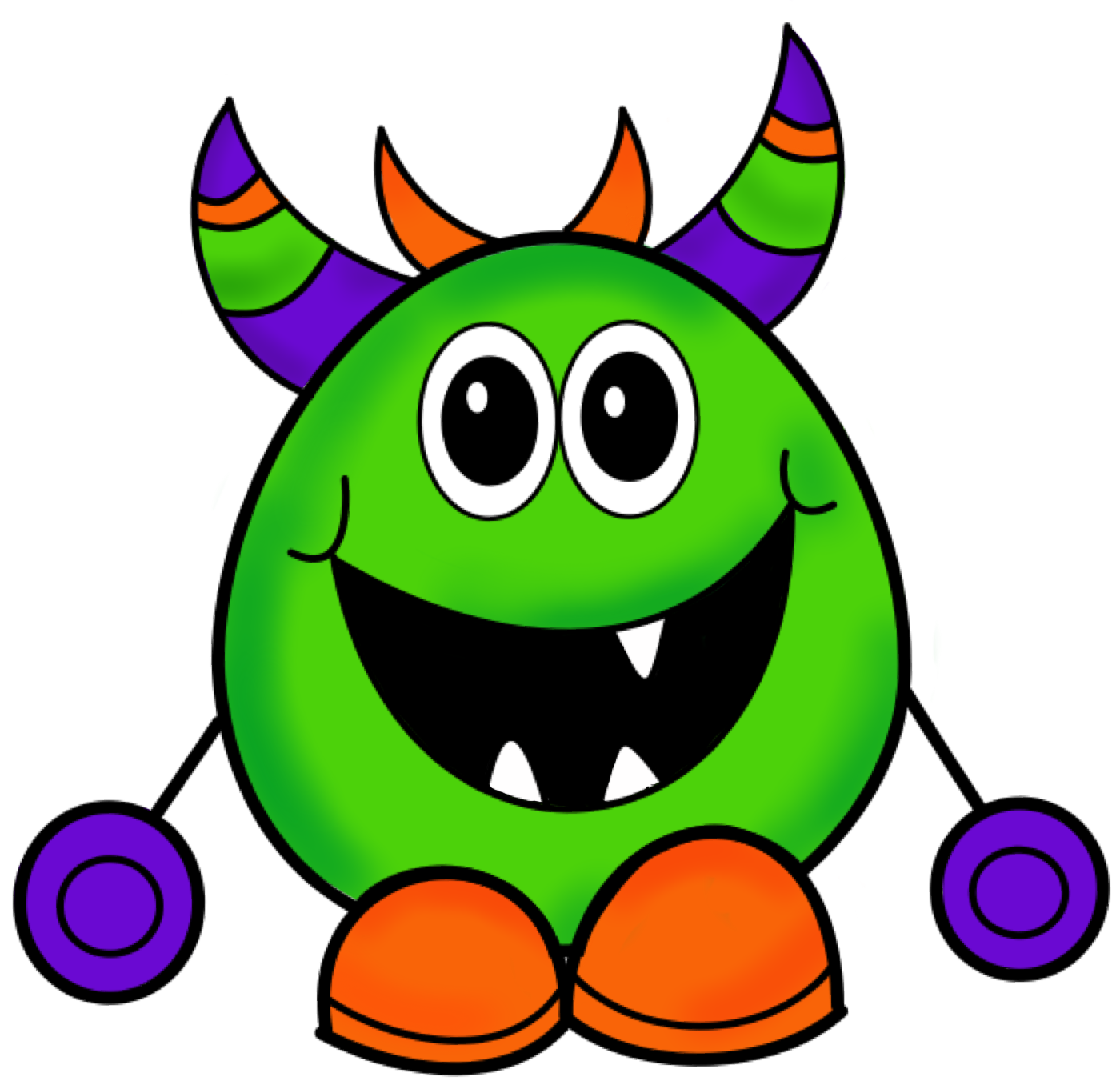 Smiling clipart monster. To school paper panda