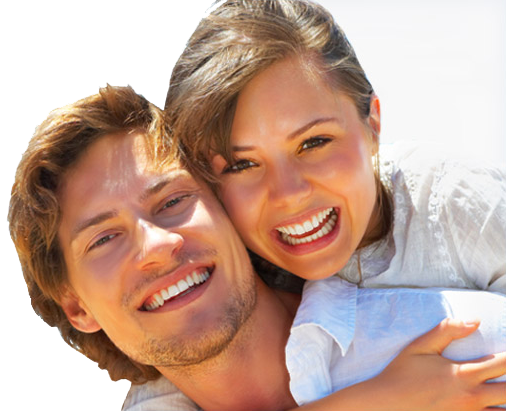 Smiling couple png. Smile makeover treatment sleep