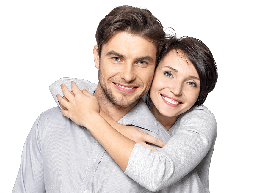 Smiling couple png. Invisalign new nixa smiles