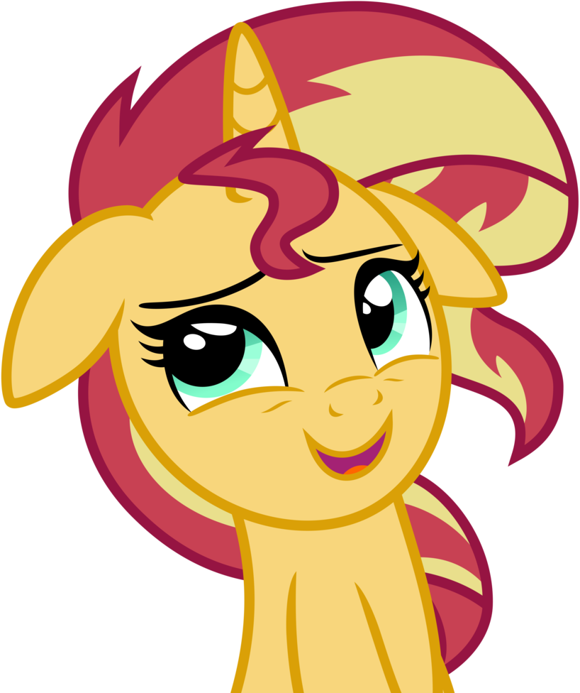 Smirk vector sinister. Sunset shimmer pony by