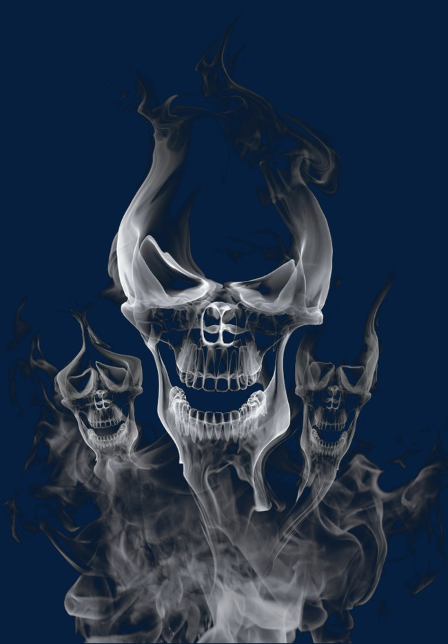 Smoke clipart face. Smiley skeleton three png