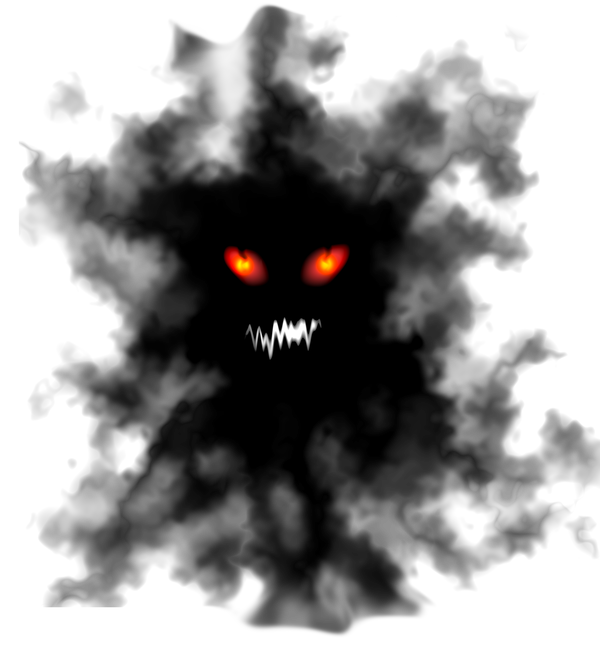 Smoke clipart face. Scary halloween dark light