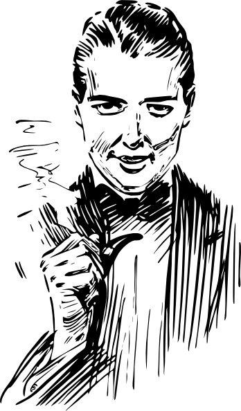 Smoke clipart face. Pipe smoking man clip