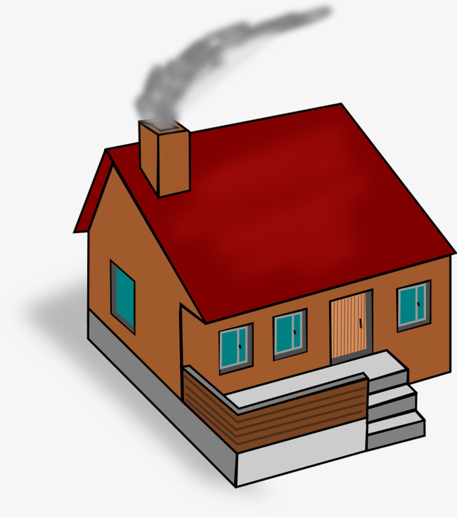 Smoke clipart smoke plume. Of house building brown