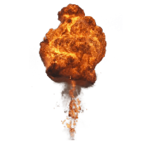 Smoke explosion png. Big with fire and