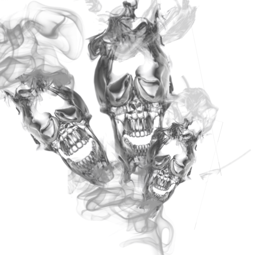 Smoke skull png. Triple transparant by cakkocem