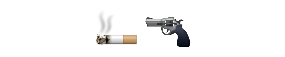 Smoking gun png. Emoji meanings stories