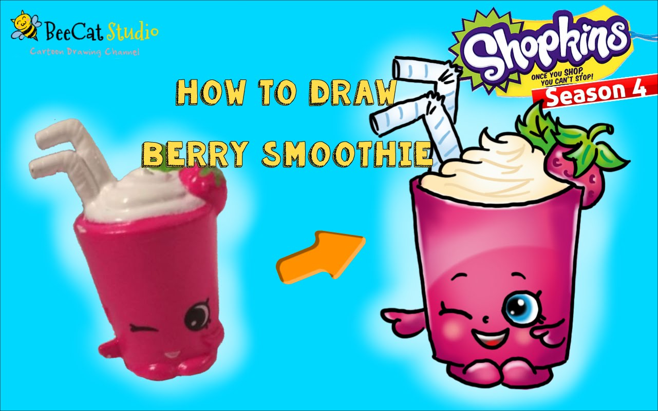 Smoothie clipart berry smoothie. How to draw shopkins