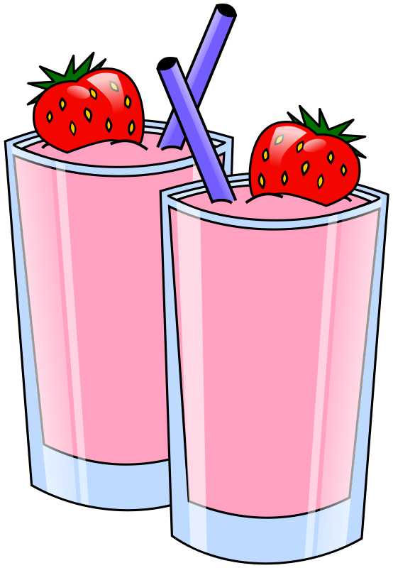 Smoothie vector green. Strawberry smoothies clip art