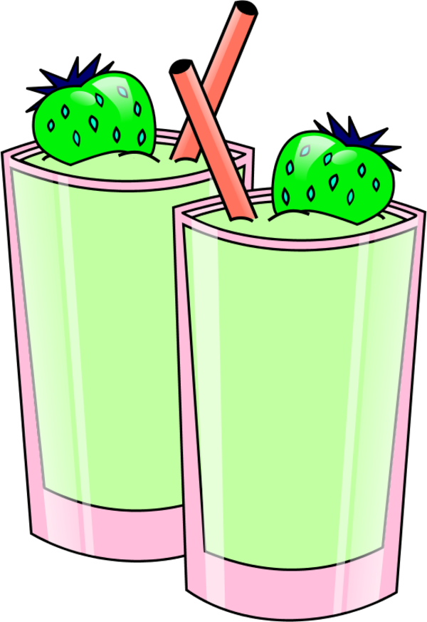 Smoothie transparent clip art. Black and white