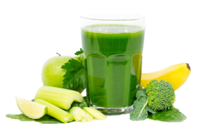 Smoothie transparent green. The diet day cleanse