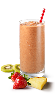 Smoothie transparent watermelon. Pineapple surf sup king