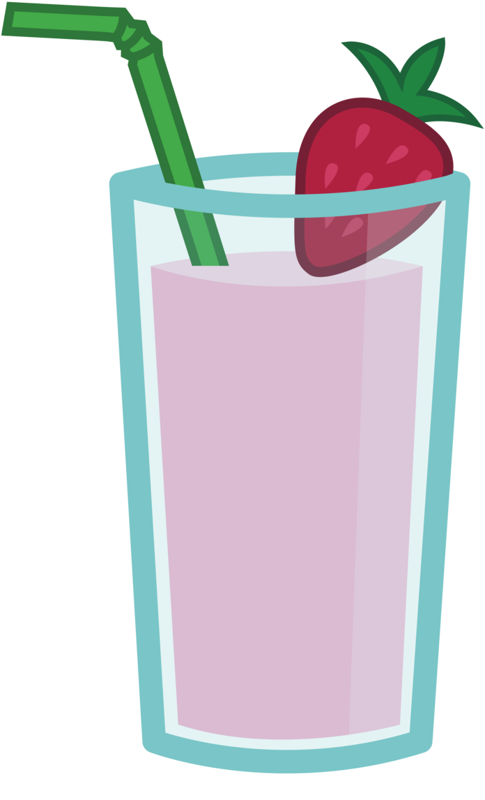 Smoothie vector. Strawberry and banana with