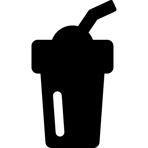 Smoothie vector black and white. With straw free food
