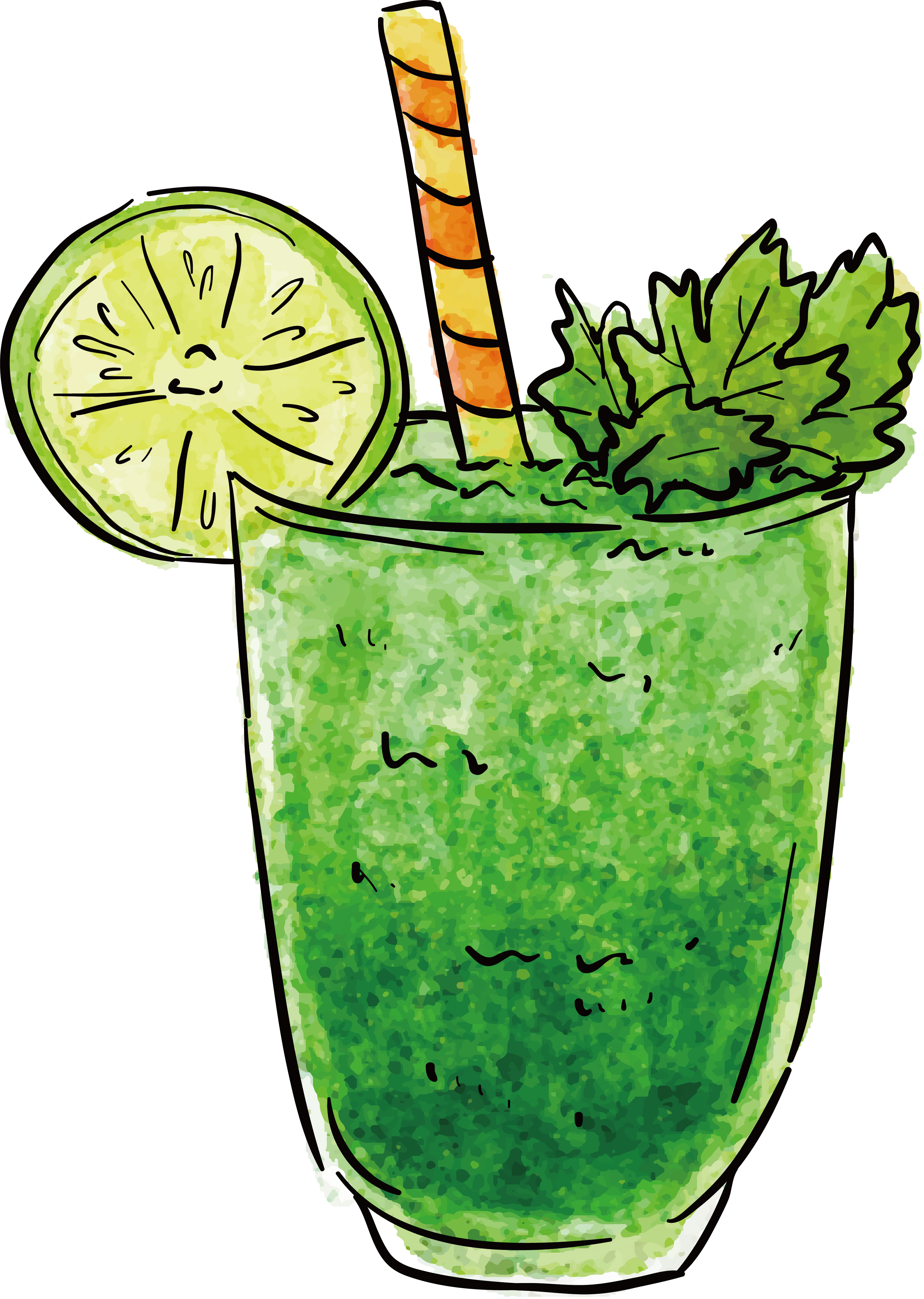 Smoothie vector green. Juice cocktail drink design