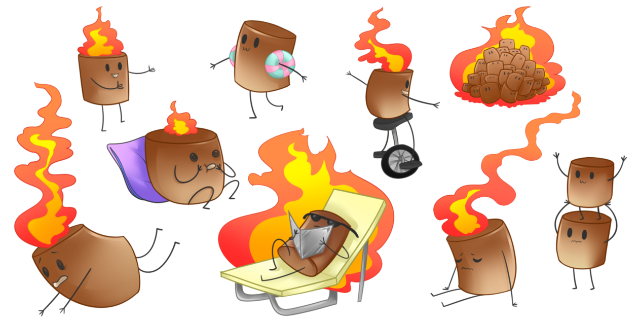 Smores vector toasted marshmallow. Png transparent stock
