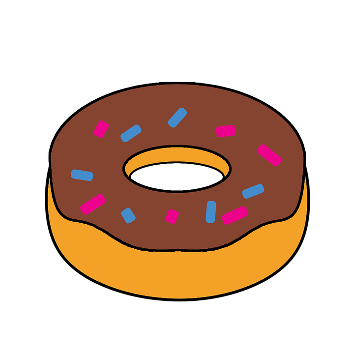 Snack clipart snack food. Free photo cartoon doughnut