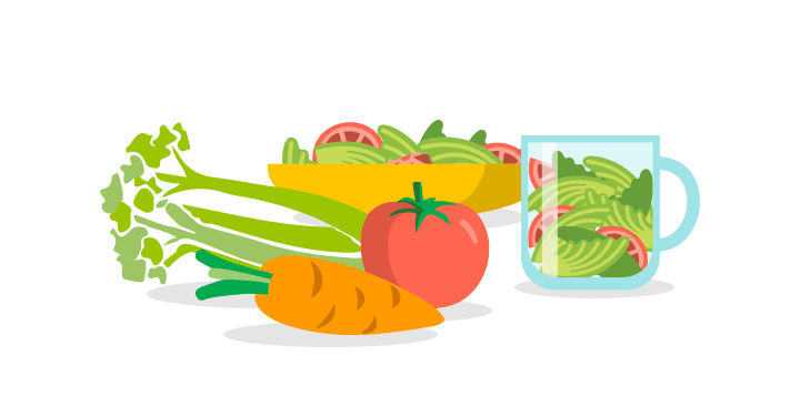 Vegetables clipart healthy living. Fruits and veggies one