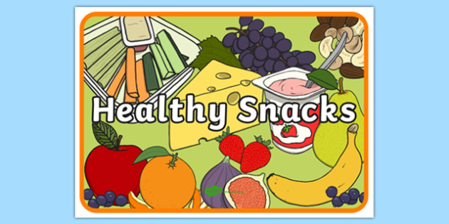 Snacks clipart assistant. Healthy display poster snack