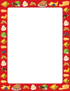 Snacks clipart border. Twinkl resources food themed