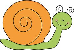 Snail clipart. Yellow and purple insects