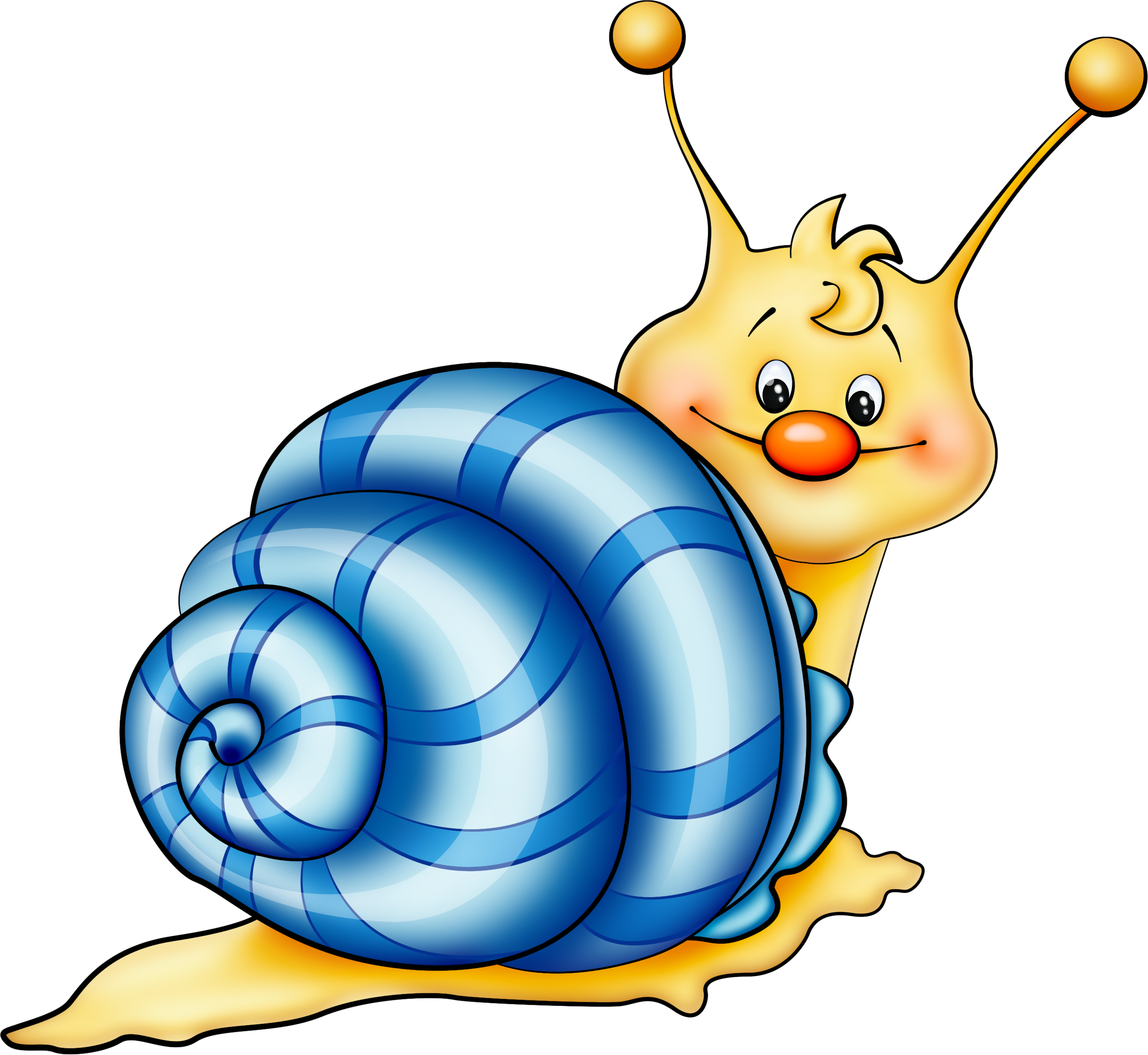 Snail graphic vector png. Blue cartoon picture obr