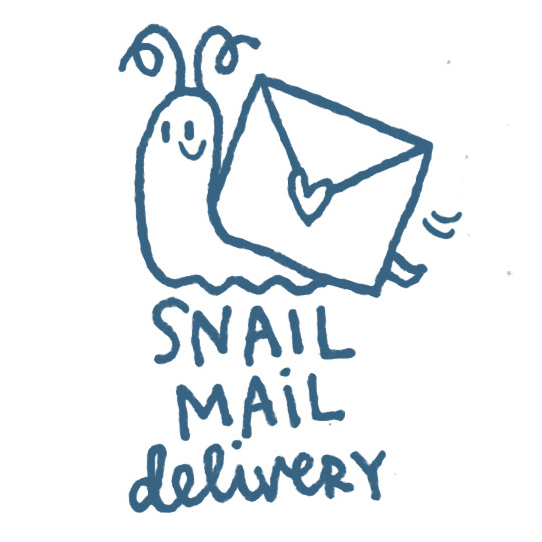 Snail mail. Stamp