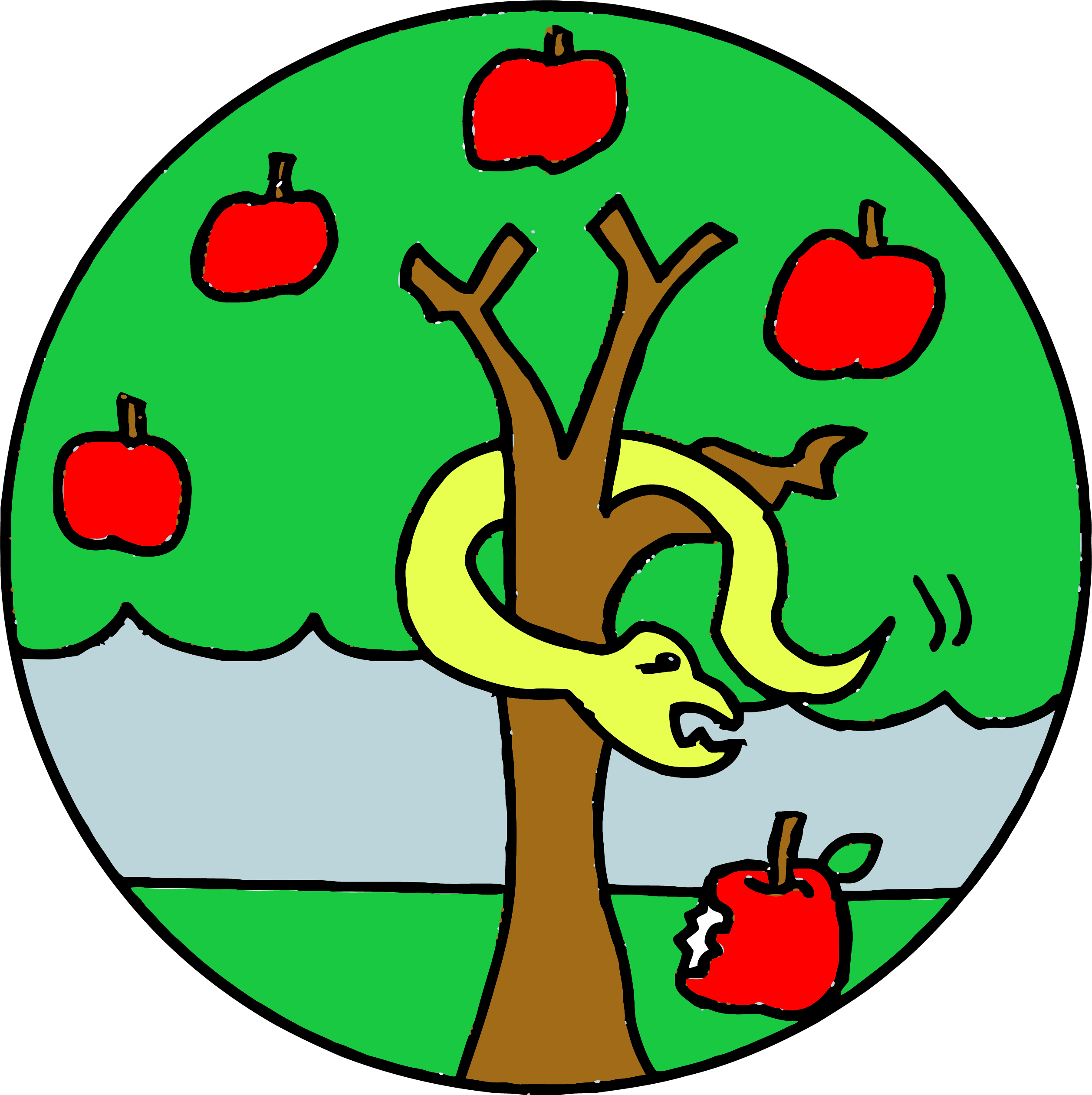 snakes clipart apple