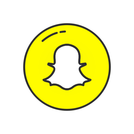 Snapchat buttons png. Ui colored by vectto