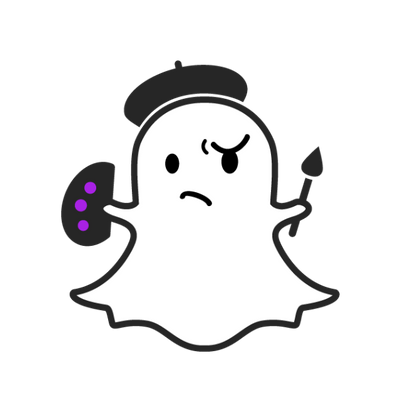 Snapchat ghost png. Outline transparent stickpng painter