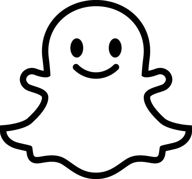 Snapchat ghost png. File with face svg