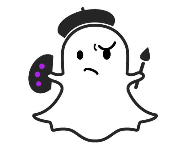 Snapchat ghost png. Painter transparent stickpng download