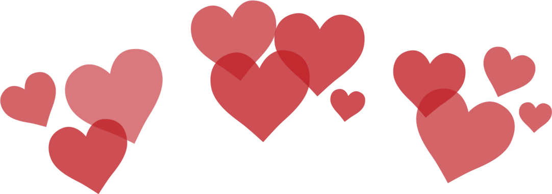 Snapchat heart png. Red hearts love filter