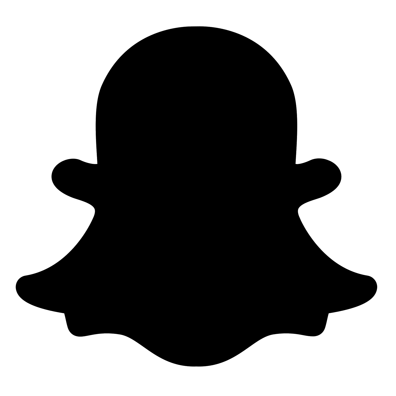 Snapchat logo png black. Filled