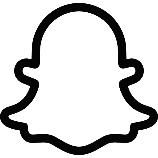 Snapchat logo png transparent background. Ghost black and white
