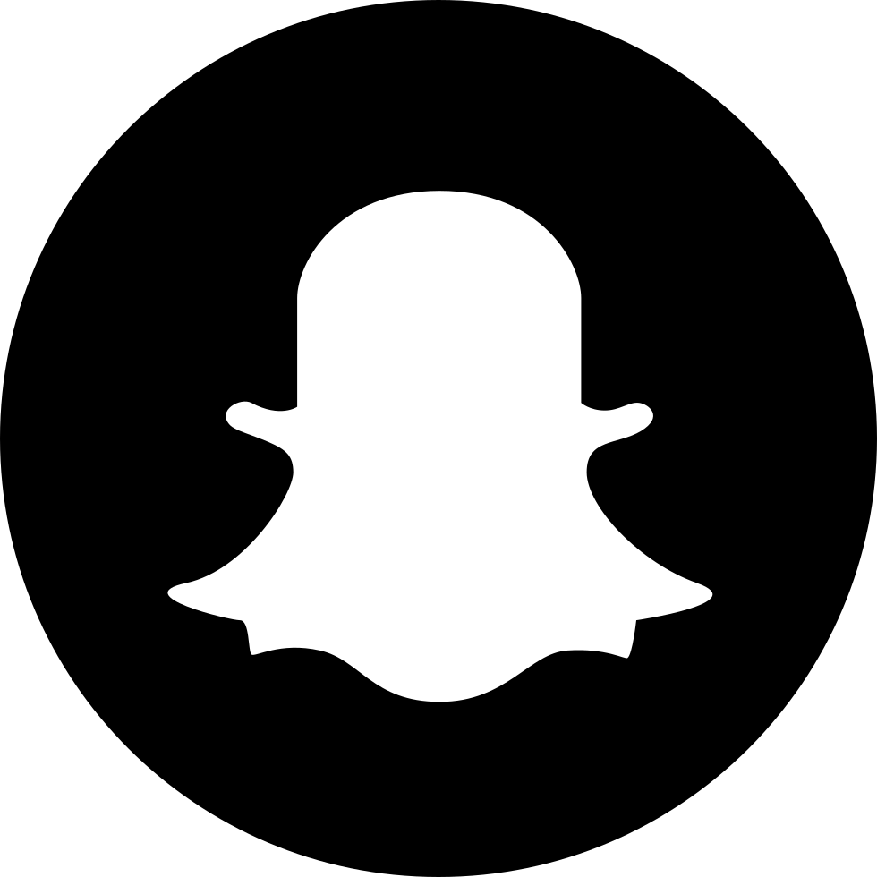 Snapchat logo png transparent background. Black circled