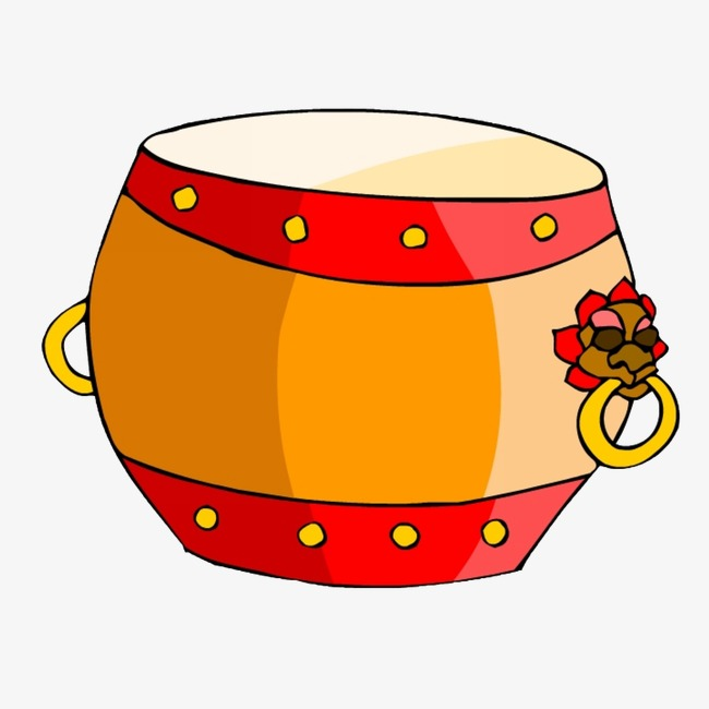 Snare clipart. Hand painted cartoon drum