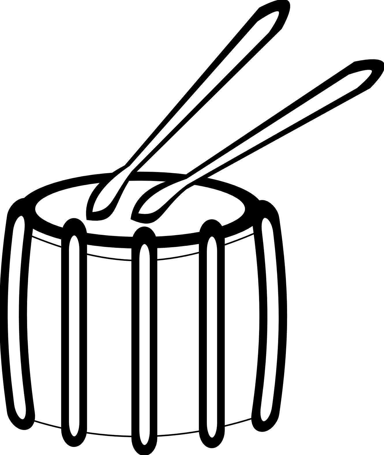 Drum clipart drum container. Snare black and white