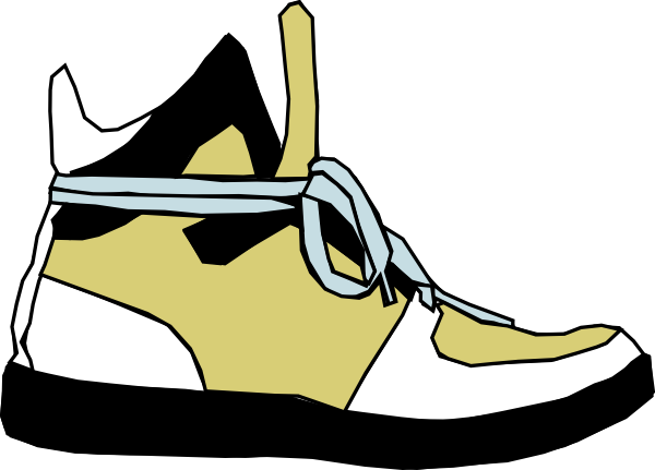 Sneaker clipart. Shoes clip art at
