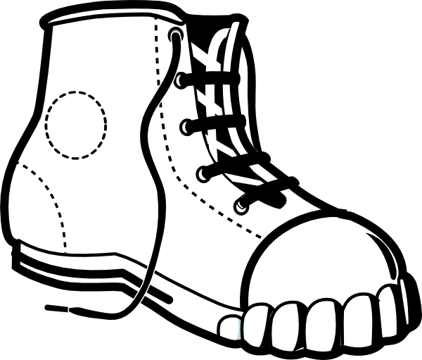 Clip Art Black And White Sneakers Clipart