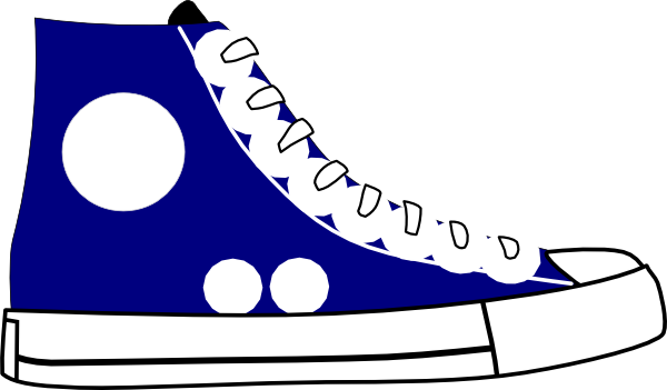 Sneaker clipart shoose. Tennis shoes black and