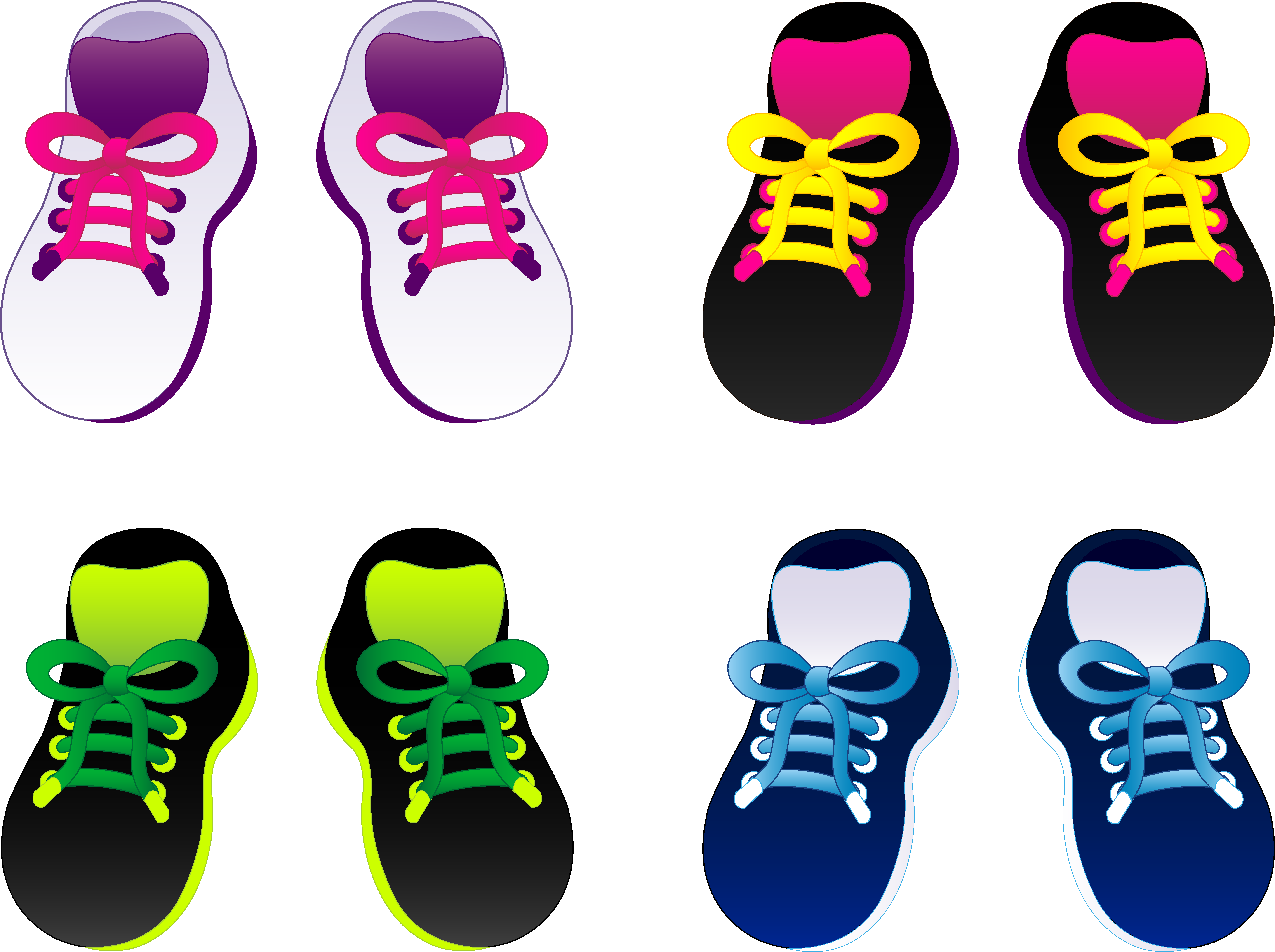 Sneaker clipart small shoe. Pair of shoes