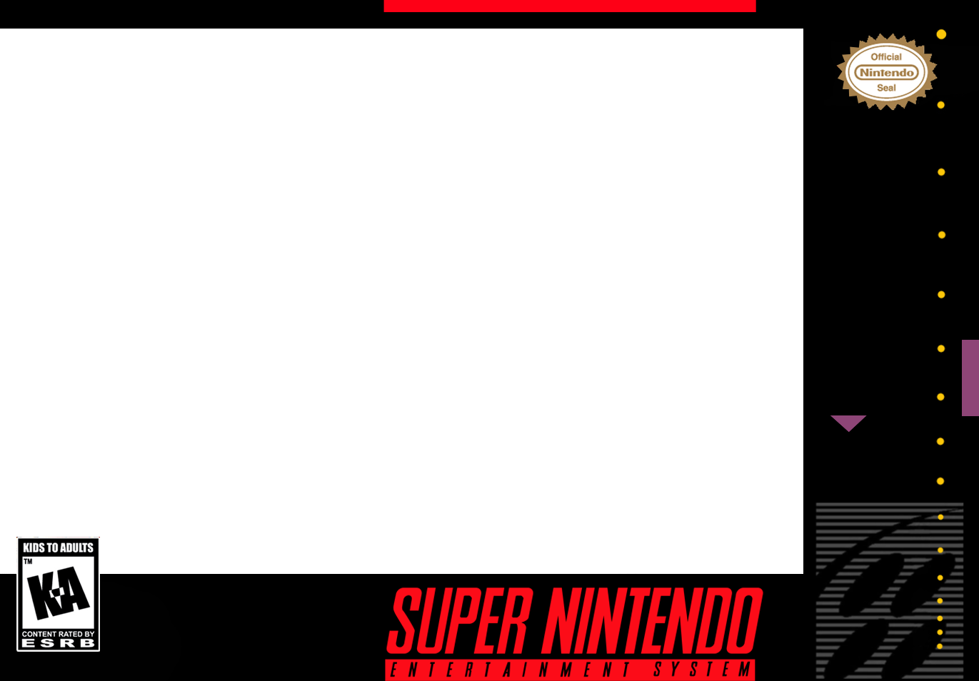 Snes box art png. Templates for nes classic
