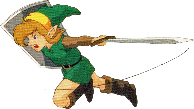 Transparent zelda link to past. Image attacking a the