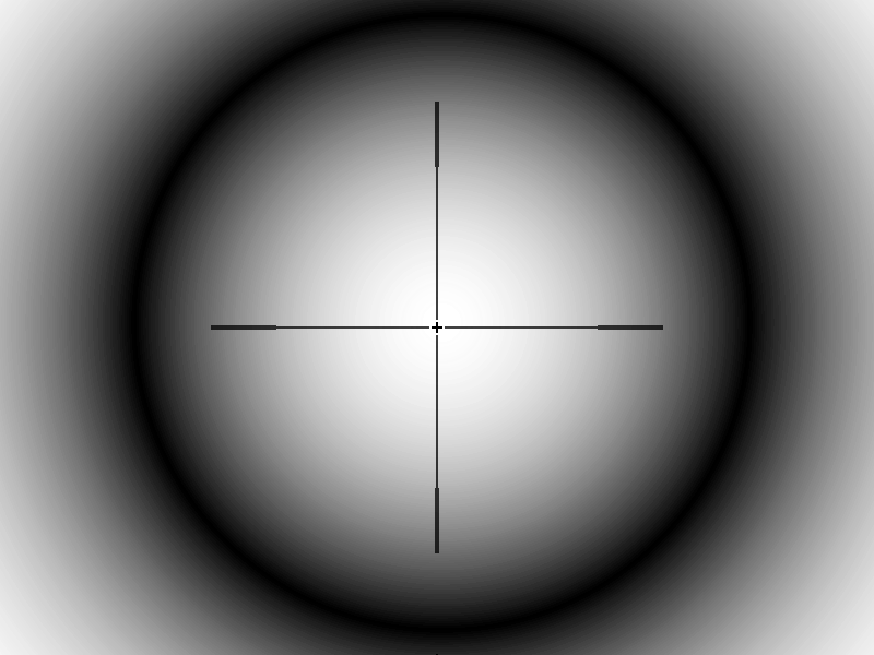 Sniper rifle scope png. Clutter free build and