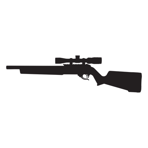 Sniper rifle silhouette png. Grey transparent svg vector