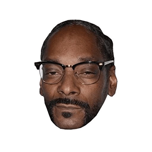 Snoop dogg head png. Stickers set for telegram