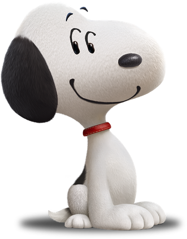Los personajes de charles. Snoopy 3d png png black and white stock